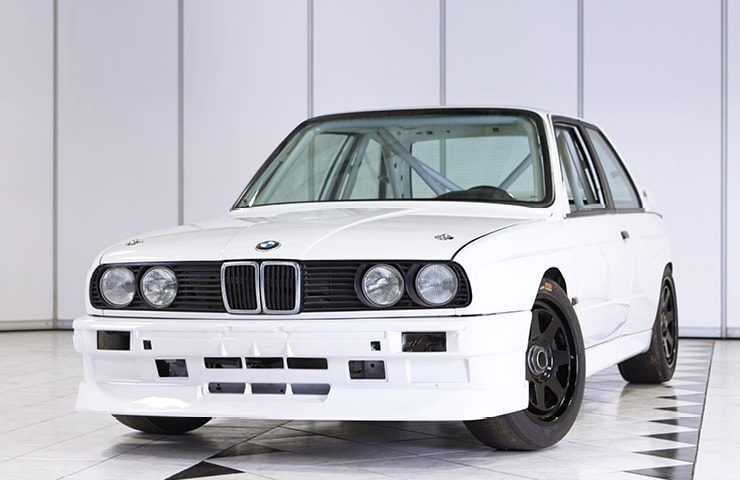BMW E30 classic race car for sale shell white
