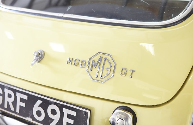 MGB Series 1 60s for sale yellow primrose badge