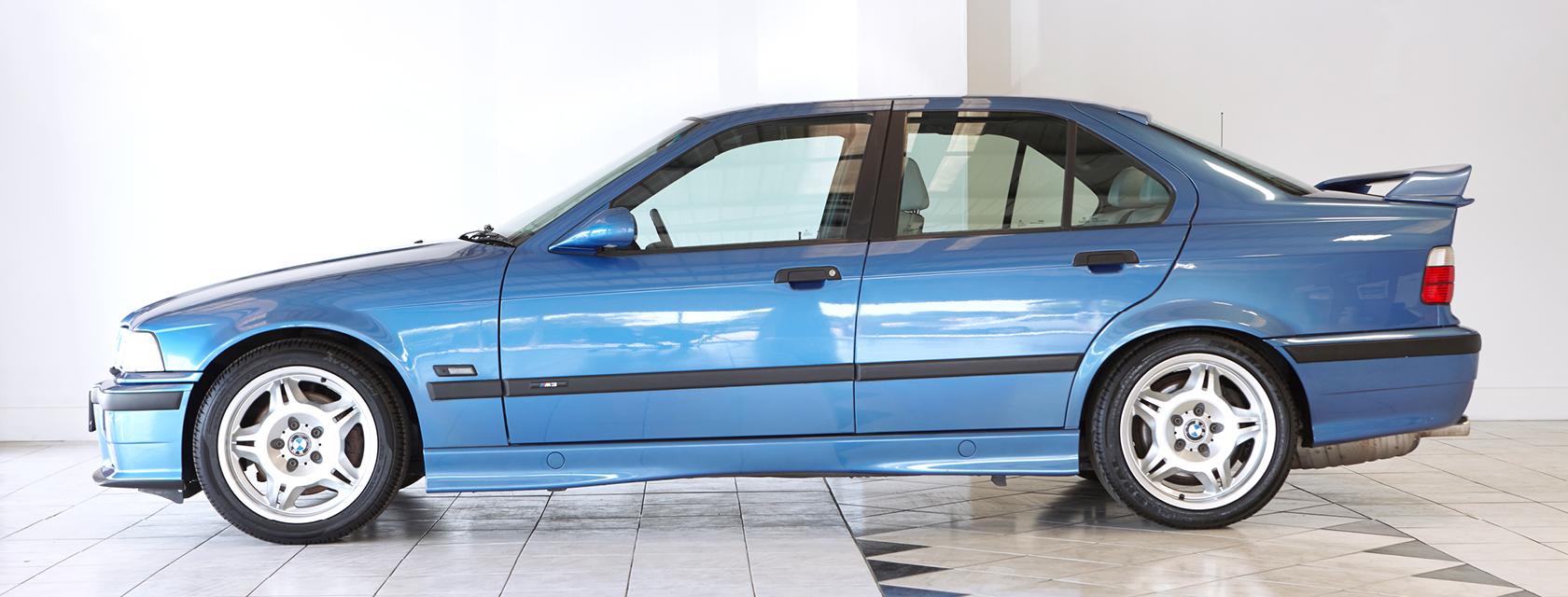 High Spec BMW M3 EVO E36 in Estriol Blue Metallic